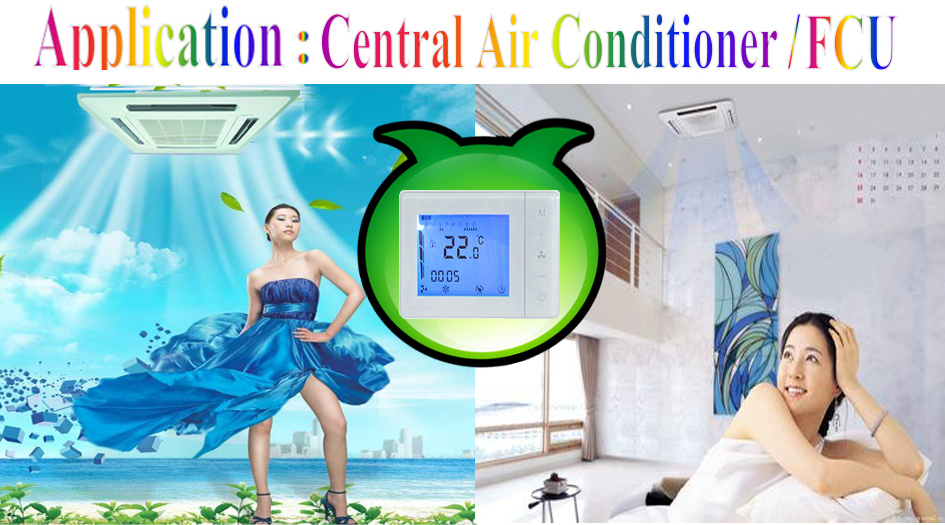 HY01AC Attractive And Reasonable Price FCU 7 Days Programmable Room Control Thermostat