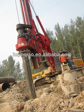 Auger drilling of interlocking, telescoping kelly bar for piling and foundation contractors