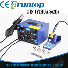 YIHUA 862D+ 110V/220V 720W Constant Temperature Antistatic Soldering Station Solder Iron Heat Air Gun