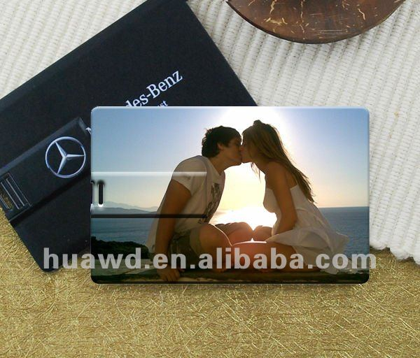 Wholesale customize promotional super thin ABS credit card usb