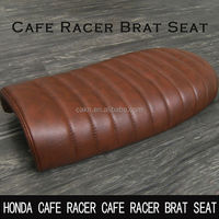Factory Outle ride sets Cafe Racer Retro modified seat cushion Brown stripes XJ550 SR400 motorcycle seat