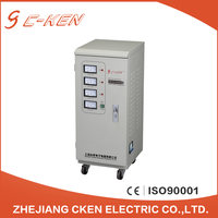 2016 Hot type 6kva three phase voltage regulators, servo motor AC automatic voltage stabilizers