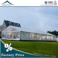 Clear span marquee transparent wedding tent