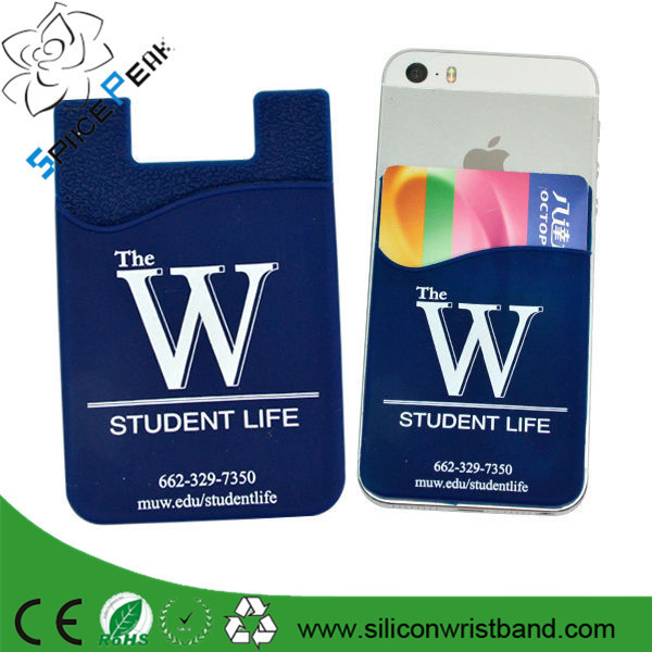 Promotion cheap smart phone accessories crown sticky card holder 3m silicone phone wallet
