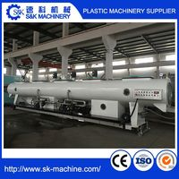 plastic water pvc double-pipe four-pipe pipe making machine price extrusion machine production line , with Large diameter