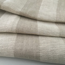100 % flax linen fabric / pure natural yarn dyed linen fabric for home textiles / shirt garment linen fabric