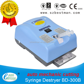 Bestman CE needle syringe destroyer BD-300B with rechargeable battery