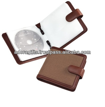 cd dvd leather cover / cd case manufacturing / slim cd case