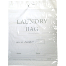 Hot sale PE plastic hotel laundry bag drawstring bag with draw tape
