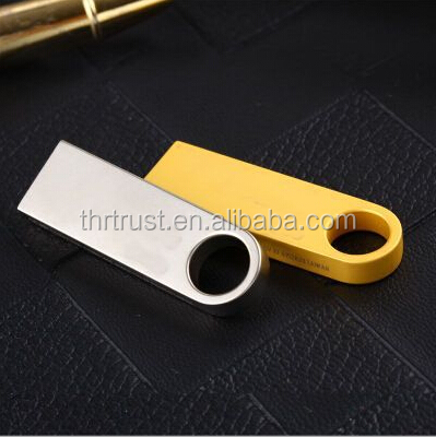 Stainless Steel Clip USB Flash Drive wholesale Free Custom Logo Keychain Mini Metal USB pen drive 1GB 2GB 4GB