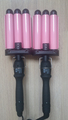 wholesale price 28 mm Professional Ceramic Triple Barrel Waver Hair Curling Iron machine With EU, AU, US,