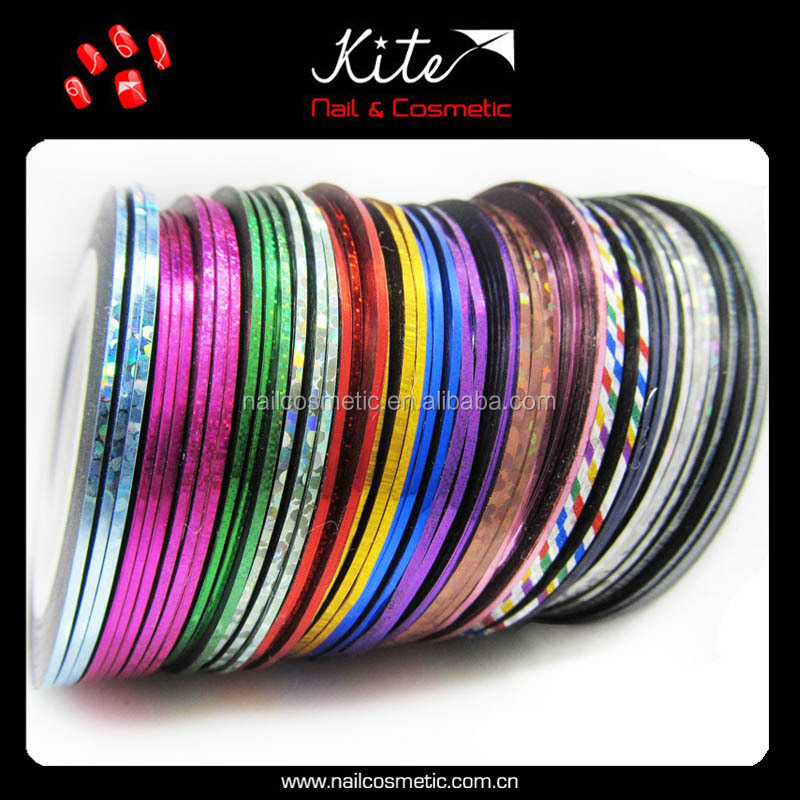 Mixed Colors Rolls Striping Tape Line Nail Art Tips Decoration Gel Nail Sticker