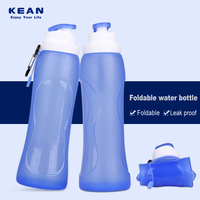 School Backpack And Matching Silicone Foldable Water Bottle