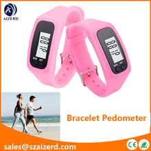 Promotional Wearable Silicone Pedometer Watch