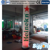 Outdoor Inflatable Lighting Advertising Columns With Different Colors of Light