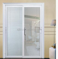 PVC sliding door, Plastic sliding door with louver, slider door home design