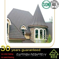 good quality Stone coatd metal roof tiles roofing / colorful sand steel roofing tile / thermal insulation types of roofing