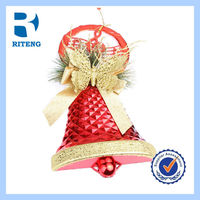 hot selling chiming red christmas bells