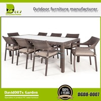 Outdoor rattan garden furniture dining table set DGD8-0007