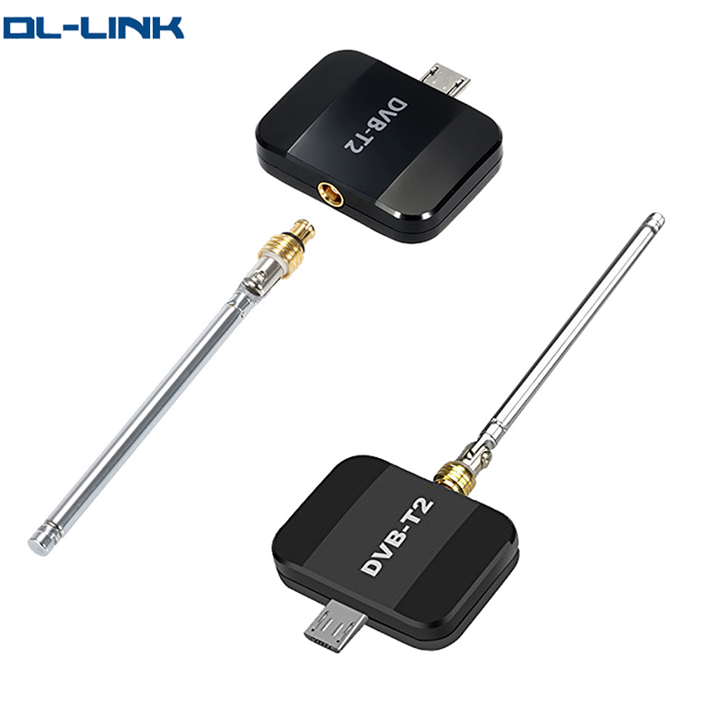 DVB-T2 Android TV Tuner DVB T2 Pad TV Tuner Mini DVB-T Digital <strong>Satellite</strong> Receiver TV Stick Dongle Receiver For Android Phone
