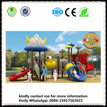 Superman style childrens garden toys plastic toys playground plastic slides for kids QX-18032A