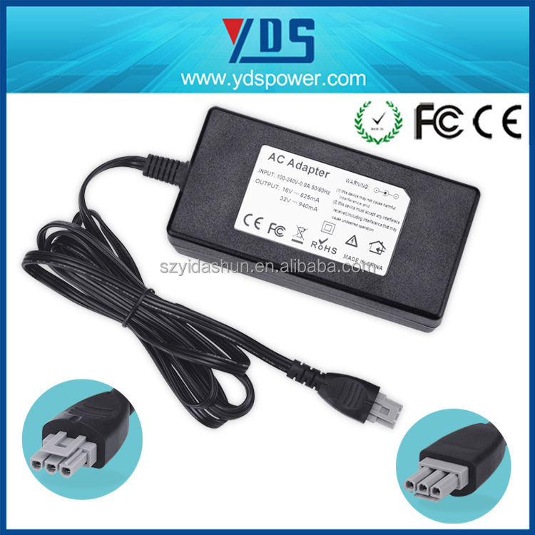 11 years factory supplier high quality 32V 2500MA 3 pin ac dc printer adapter for 3d printer