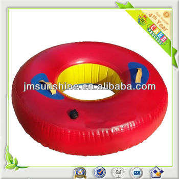 1 person inflatable round ski water with handlegrip