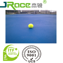 Jrace sport rubber PU tennis court polyurethane flooring surface