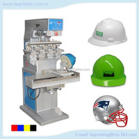 Good price top quality 4 color pad printing machine for safety helmets
