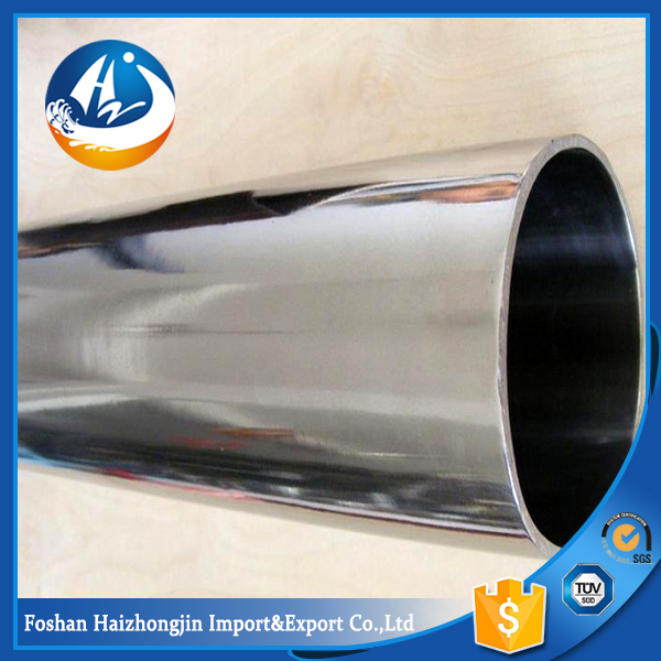 large diameter 600mm 304l ss welded tube 800 grit finish round pipe