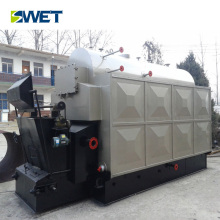 Horizontal coal fried steam powered electric generator condensing boiler