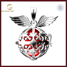 harmony ball angel wing heart rhodiumn harmony ball cage 20mm to pur 18mm ball