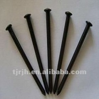 black concrete steel nails 45#steel