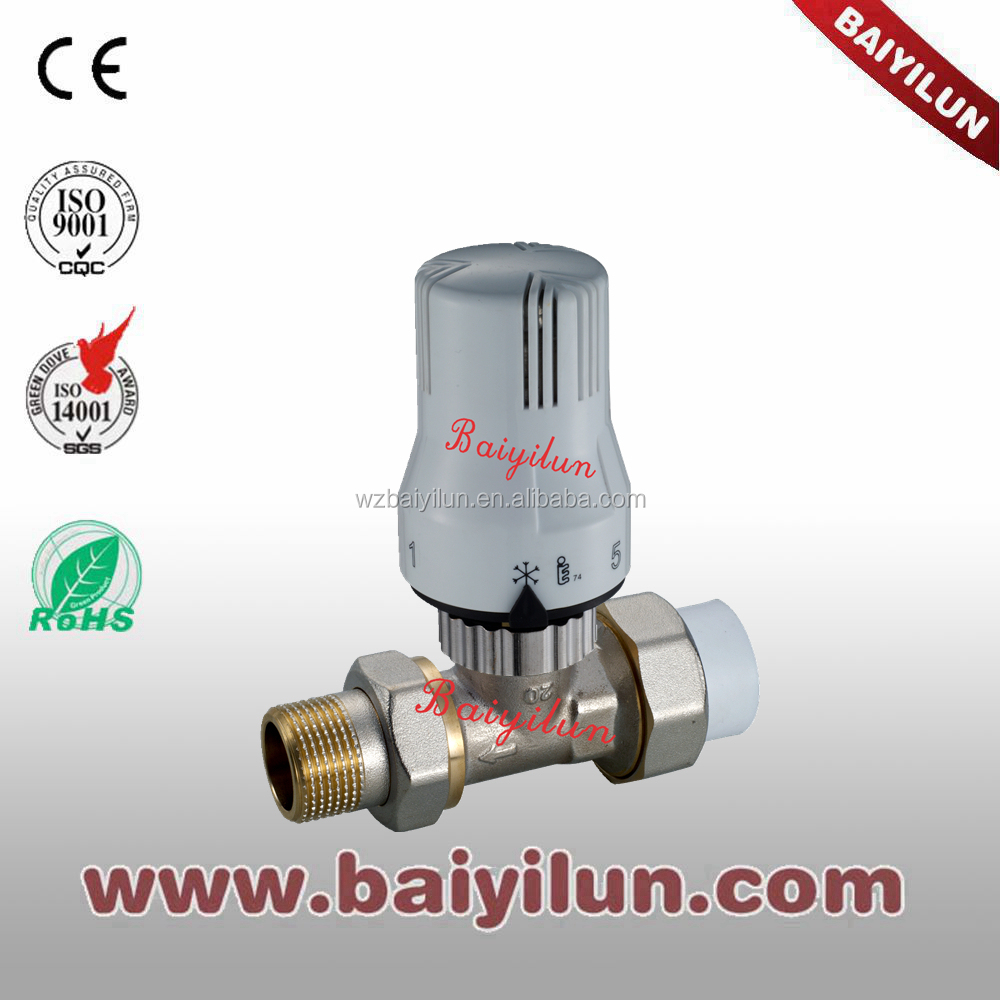 PPR Pipe thermostatic radiator valve;CE control straight valve with Y type