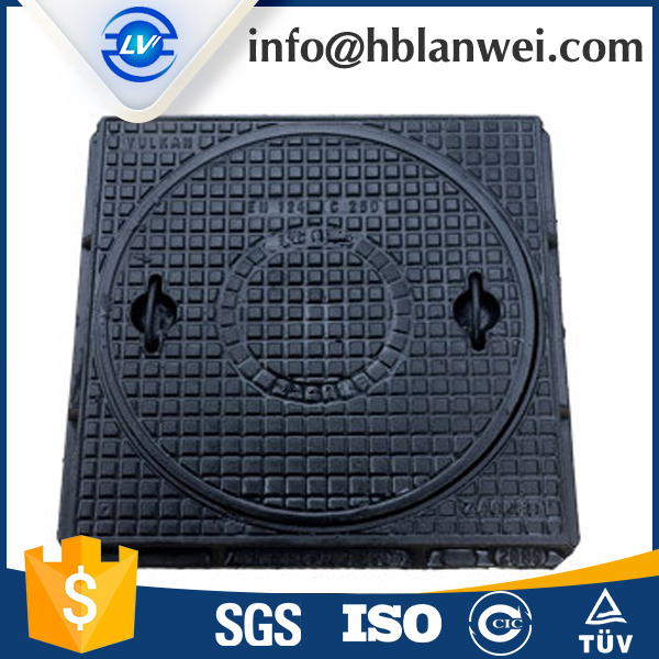manhole tops with square frame and round cover