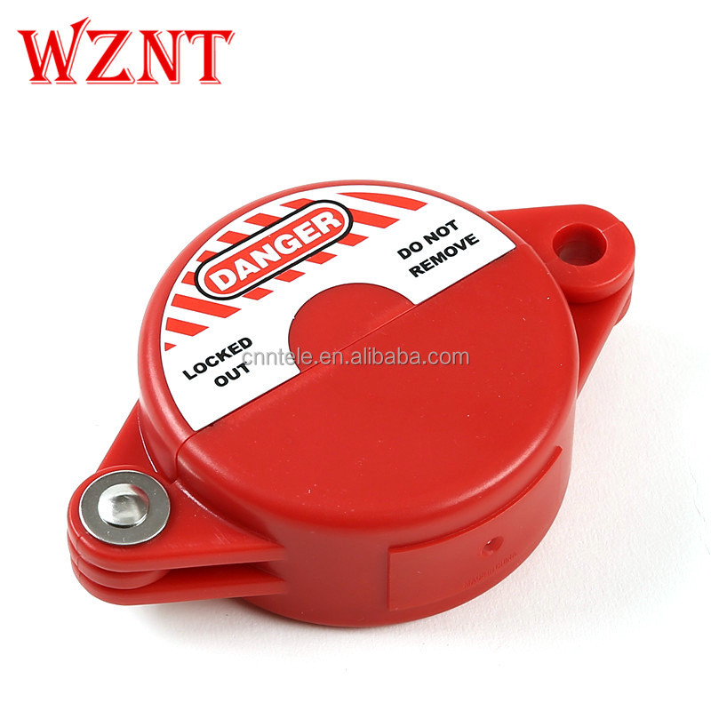 "Mini Gate Valve Lockout, Red, <strong>1</strong> to 2-<strong>1</strong>/2"" Handle dia."