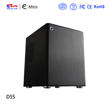 Realan Micro ATX case E-D5S,aluminum case computer chassis for deaktop without CD-ROM