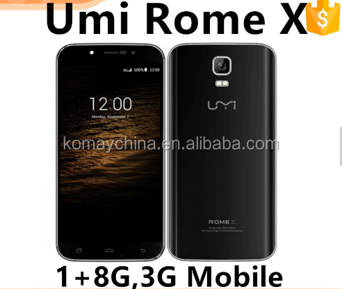 High quality original Umidigi / Umi Rome X Quad Core Android 5.1 Smartphone 1GB+8GB Dual SIM 2500mAh 8MP Camera 3G Mobile