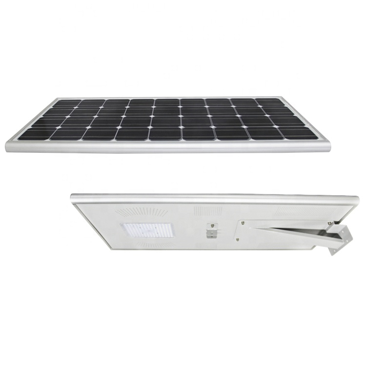solar street light all in one 100w time control light control street light for highway square playground park