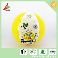 Promotion summer toy kid play cartoon printed inflatable beach ball