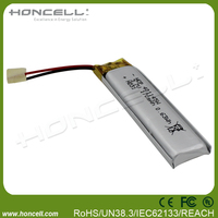 3.7v 170mah 401145 3.7v ultra thin lipo battery lipo