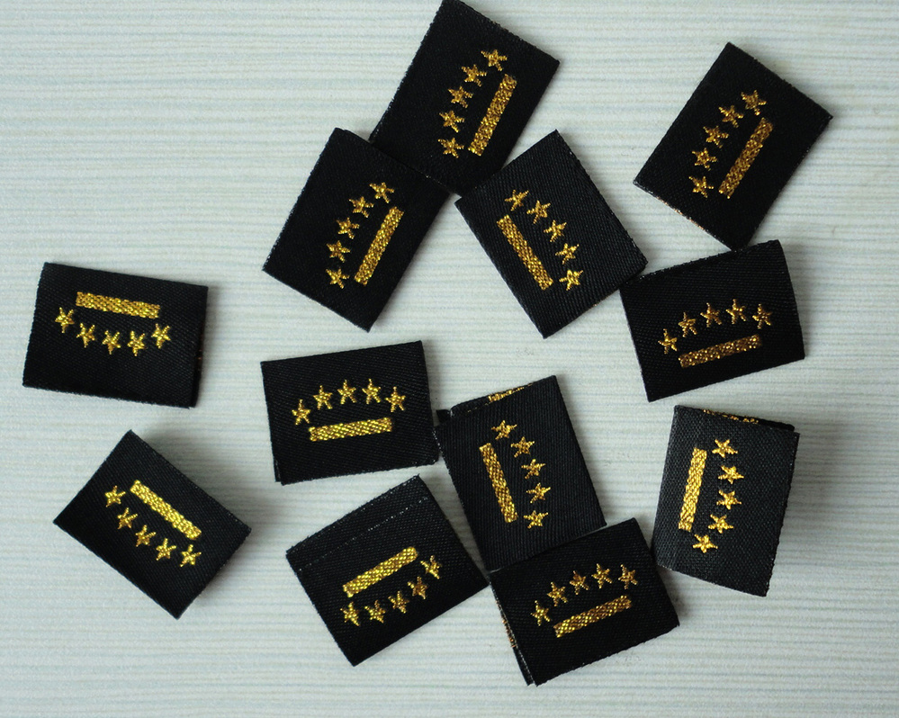 2017 Woven labels clothing labels ,garment accessories woven labels