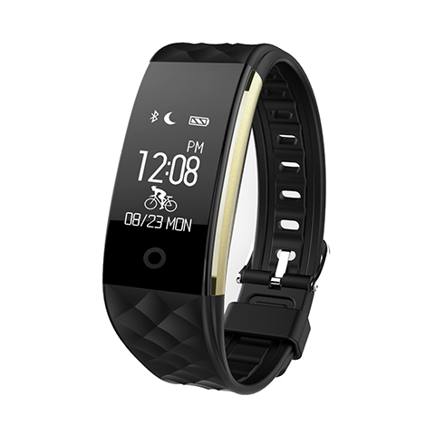 Latest Smart Bracelet S2 with PVC+Silicon, Heartrate Monitor and 64*128 pixels,etc