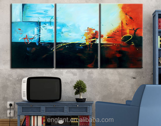 Abstract Blue home decor wall hanging painting