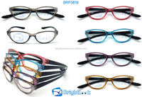 2014 Wholesale Cat eye Style Wenzhou Fashion Design Unisex with case display reading glasses (BRP3819)
