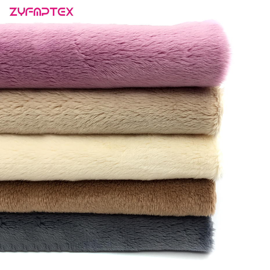 China Suppliers Of High Quality Long Pile Plush Fabric Knitted Polyester Textile Fabric