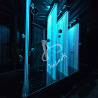 Modern Lighting Decoration Plastic Optic Fiber Waterfall Curtain Light