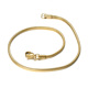 Titanium Steel 18K Gold Plating Woman Jewelry Thin Link Snake Chain Bracelet