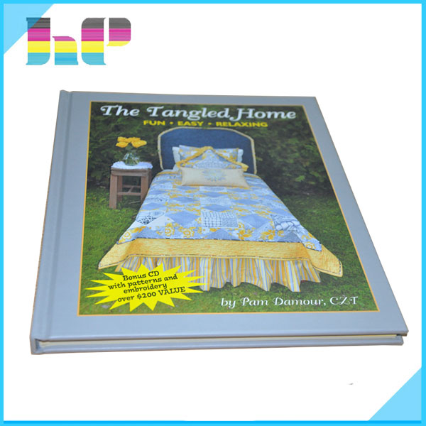 Printing high quality custom hardcover book with cd glued or inserted