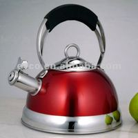 Jupiter 2.6 Qt. Stainless Steel Whistling Tea Kettle - Metallic Cranberry